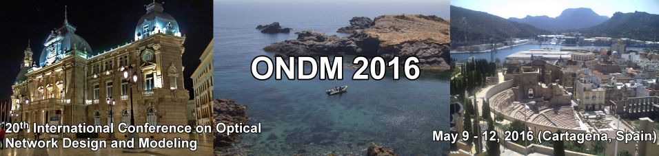 20th Conference on Optical Network Design and Modeling (ONDM 2016)